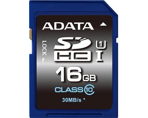 Adata 16GB MicroSDHC Class 10 ASDH16GUICL10-R