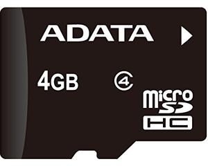 Adata 4GB MicroSDHC Class 4 AUSDH4GCL4-R