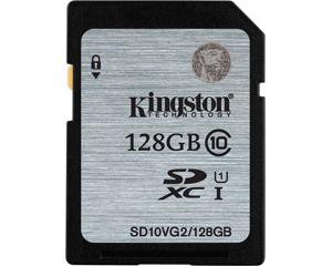 Kingston 128GB MicroSDXC Class 10 SD10VG2/128GB