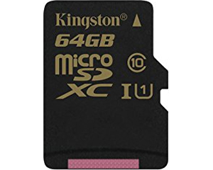 Kingston 64GB MicroSDXC Class 10 SDCA10/64GB