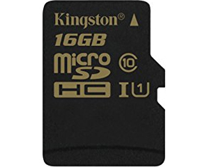 Kingston Digital 16GB MicroSDHC Class 10 SDCA10/16GB
