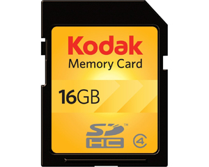 Kodak SDHC 16GB Class 4 Flash Memory Card KSD16GPSBNA