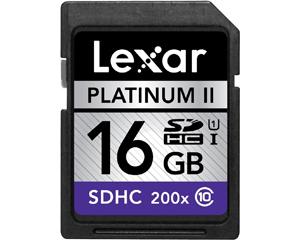 Lexar 16GB MicroSDHC Class 10 LSD16GBBNL200