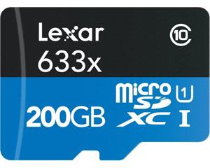 Lexar 200GB MicroSDXC Class 10 LSDMI200BBNL633R