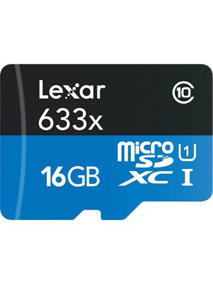 Lexar High-Performance 16GB microSDHC 633X Flash Memory Card LSDMI16GBBEU633R