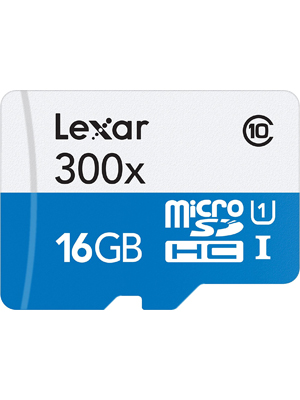 Lexar High-Performance microSDHC 800x 16GB Flash Memory Card LSDMI16GBB1NL300A