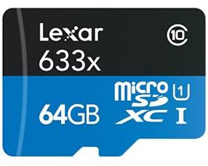 Lexar micro SD 64GB Class 10 LSDMI64GBBNL633A