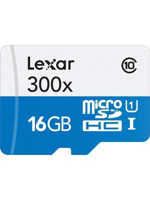 Lexar MicroSDHC 300x 16GB Flash Memory Card LSDMI16GBBNL300A
