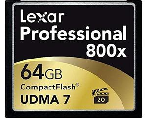 Lexar Professional 800X 64GB CompactFlash card LCF64GCRBAS800