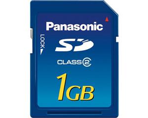 Panasonic 1GB SD Class 2 RP-SDR01GU1A