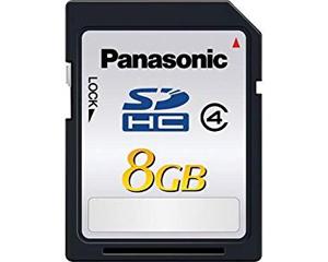 Panasonic 8GB SDHC Class 4 RP-SDP08GU