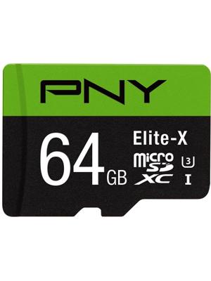 PNY Elite-X 64GB microSDXC Card (P-SDU64U390EX-GE)