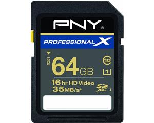 PNY Professional X 64 GB SDXC Class 10 (P-SDX64U1-30-GE)
