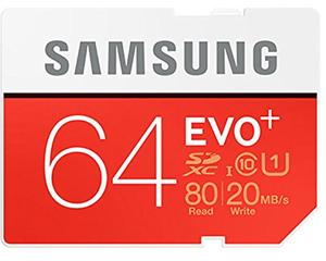 Samsung 64GB MicroSDXC Class 10 MB-SC64D