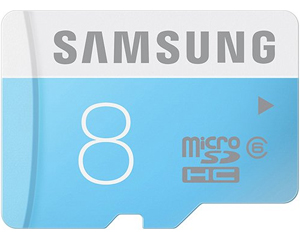 Samsung 8GB MicroSDHC Class 4 MB-MS8GB/IN