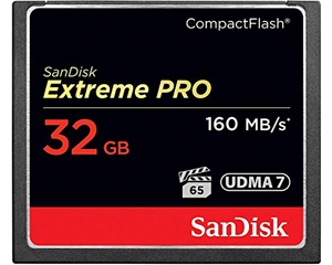 SanDisk 32GB Extreme Pro CompactFlash Memory Card SDCFXPS-032G-X46