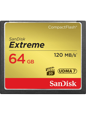 Sandisk Extreme 64 GB CompactFlash Card SDCFXS-064G-A46
