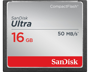 SanDisk Ultra 16GB CompactFlash Card SDCFHS-016G-AFFP