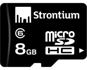 Strontium 8GB MicroSDHC Class 6 SR8GTFC6R