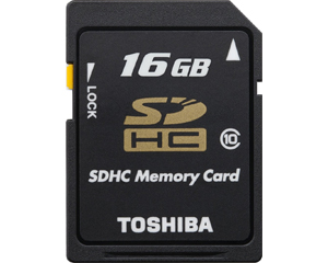 Toshiba 16GB Class 10 UHS-I SDHC Memory Card (PFS016U-1DCK)