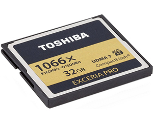 Toshiba 32GB Exceria Pro 1066X CompactFlash Card(THN-C501G0320U6)