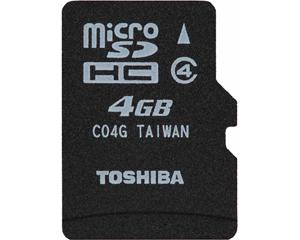 Toshiba 4GB MicroSDHC Class 4 SD-C04G