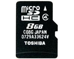 Toshiba 8GB MicroSDHC Class 4 C08G