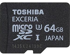 Toshiba Exceria 64GB MicroSD UHS-I U3 PFM064U-1EUS