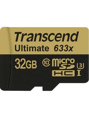 Transcend 32GB 633X MicroSDHC Memory Card (TS32GUSDU3)
