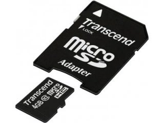 Transcend 4GB MicroSDHC Class 10 TS4GUSDHC10