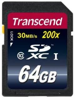 Transcend 64GB MicroSDHC Class 10 TS64GSDXC10E