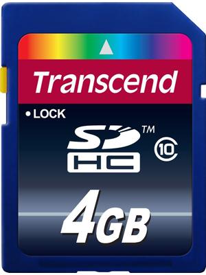 Transcend TS4GSDHC10 Premium 4GB Class 10 Memory Card