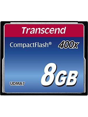 Transcend TS8GCF400 8GB 400X Compact Flash Memory Card (TS8GCF400)